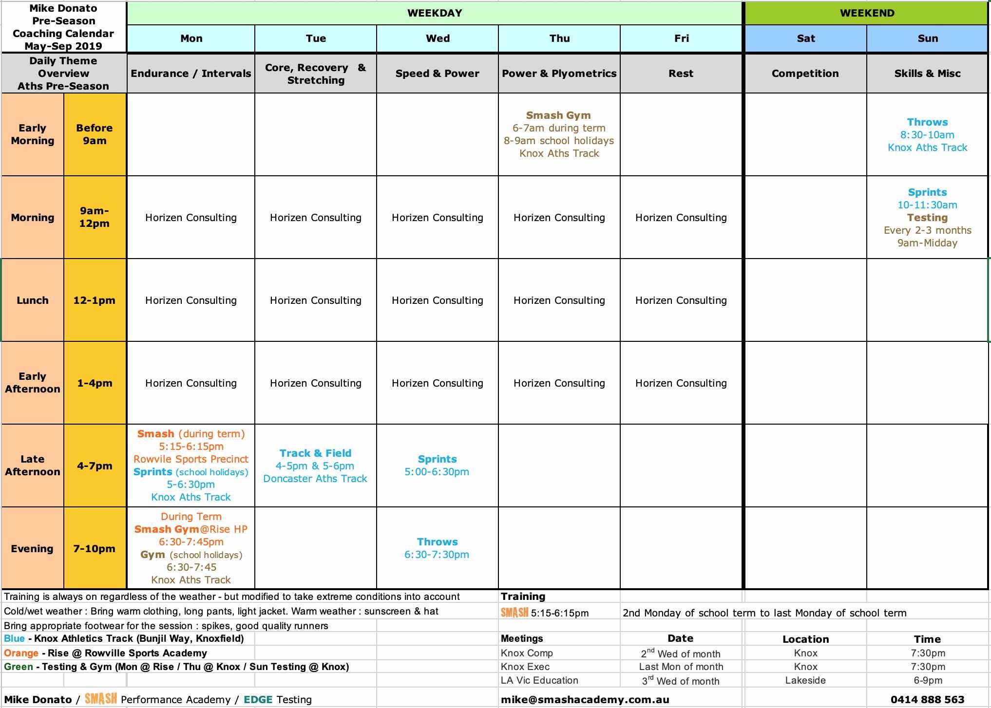 SMASH Calendar